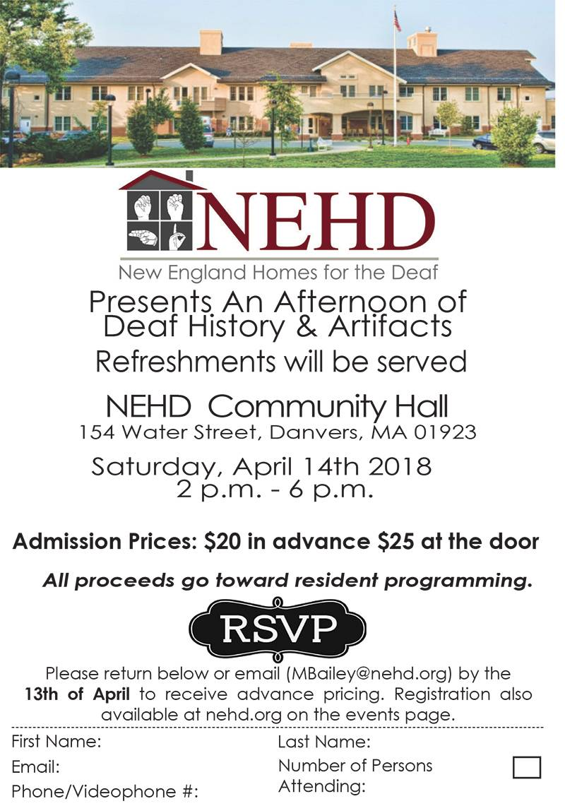 artifacts and deaf history event at new england homes for the deaf